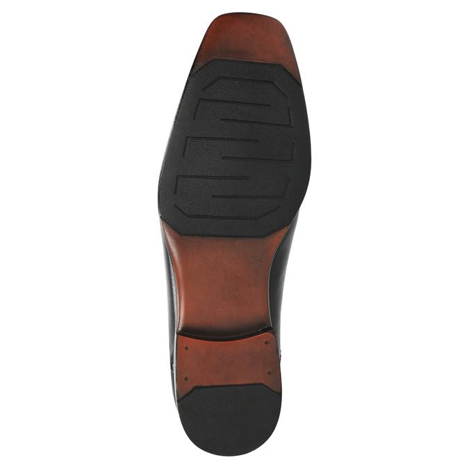 Čierne kožené poltopánky bata, čierna, 824-6724 - 26