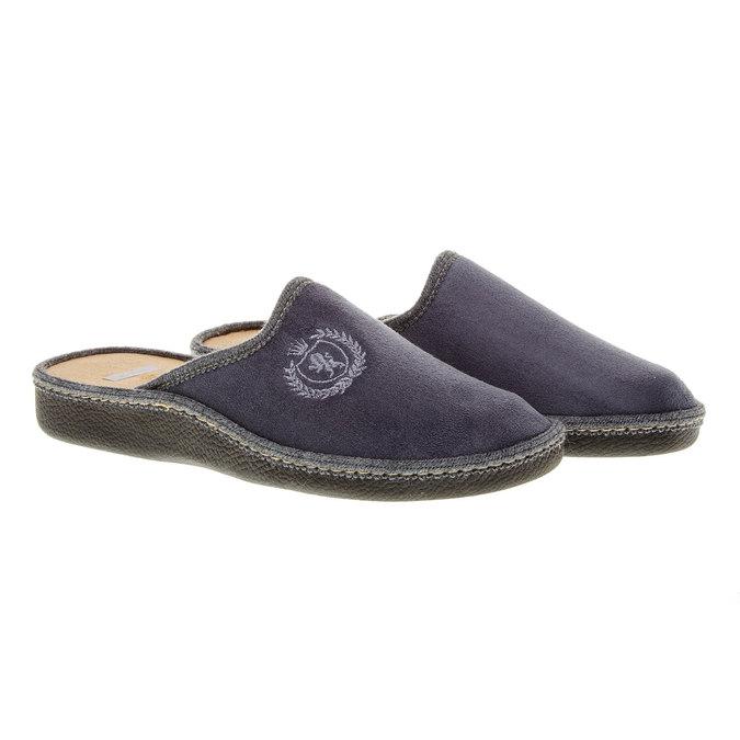 Pánska domáca obuv bata, šedá, 879-2165 - 26