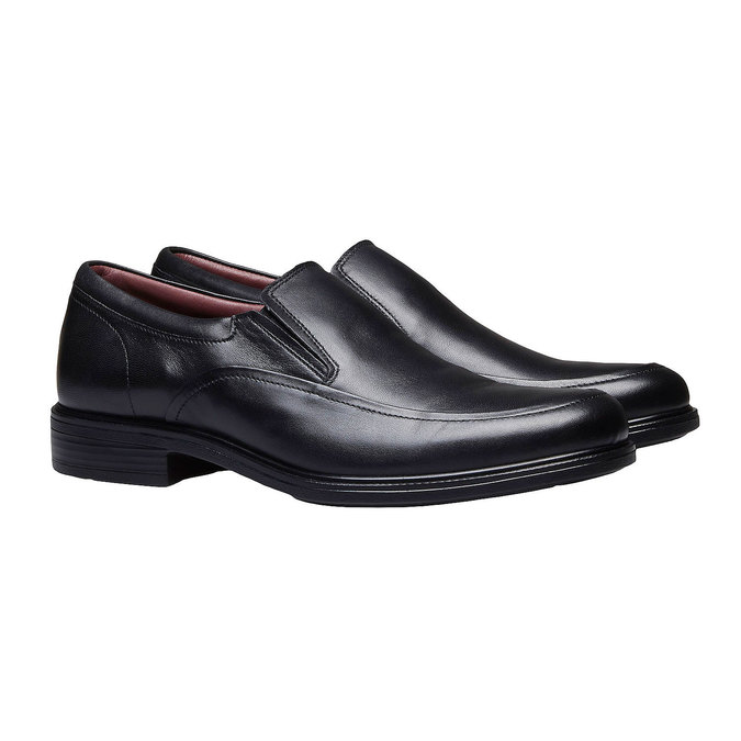 Komfortné poltopánky z kože bata-comfit, čierna, 814-6934 - 26