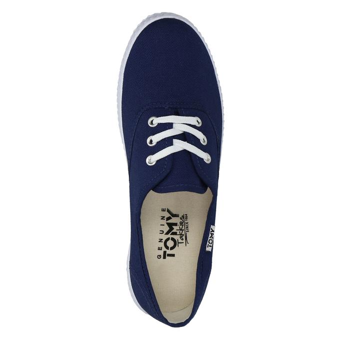 Modré textilné tenisky tomy-takkies, modrá, 519-9691 - 19