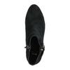 Ćlenková obuv z brúsenej kože bata, čierna, 693-6600 - 19