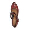 Kožené lodičky s remienkom cez pracku bata, červená, 626-5604 - 19