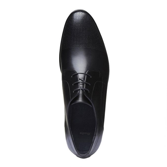 Pánske kožené poltopánky bata, čierna, 824-6275 - 19
