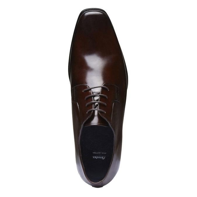 Kožené poltopánky v Derby strihu bata, hnedá, 824-4550 - 19