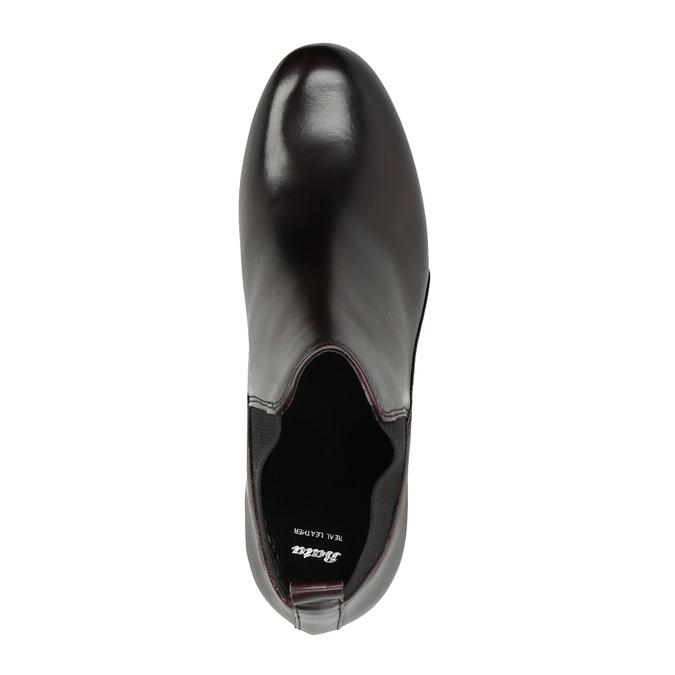 Kožená členková obuv na vysokom podpätku bata, 796-5605 - 19