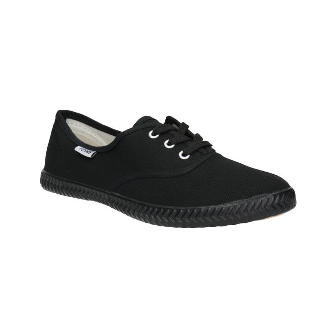 Čierne textilné tenisky tomy-takkies, čierna, 519-6691 - 13