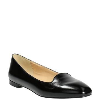 Dámske kožené baleríny bata, čierna, 528-6630 - 13