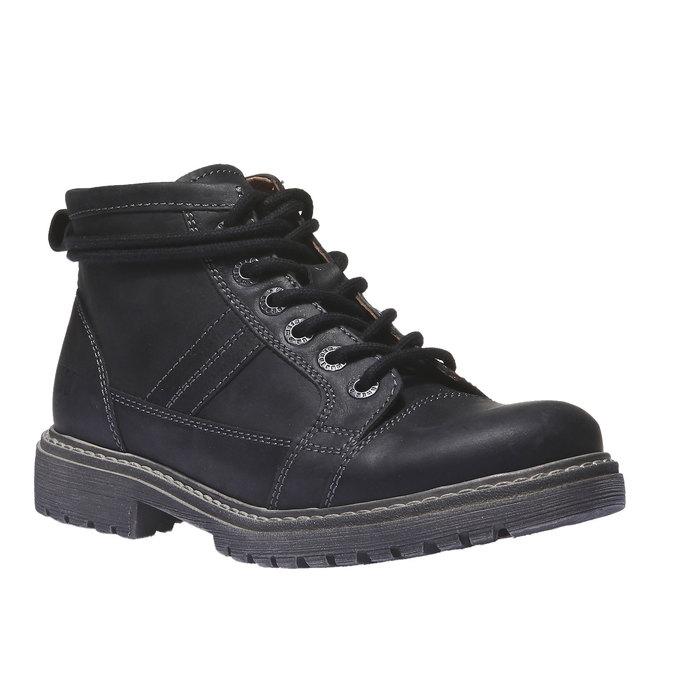 Kožená obuv s originálnymi šnúrkami weinbrenner, čierna, 594-6409 - 13