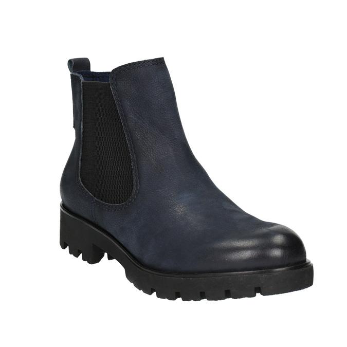 Dámska členková obuv bata, modrá, 696-9606 - 13