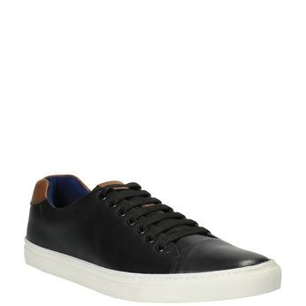Pánske kožené tenisky bata, čierna, 844-6626 - 13