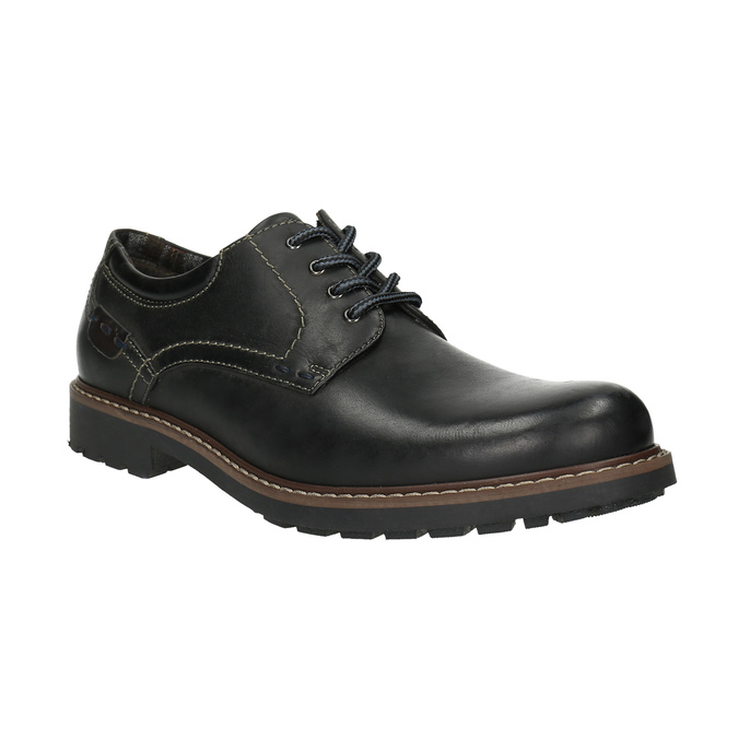Kožené poltopánky s výraznou podrážkou bata, čierna, 826-6641 - 13