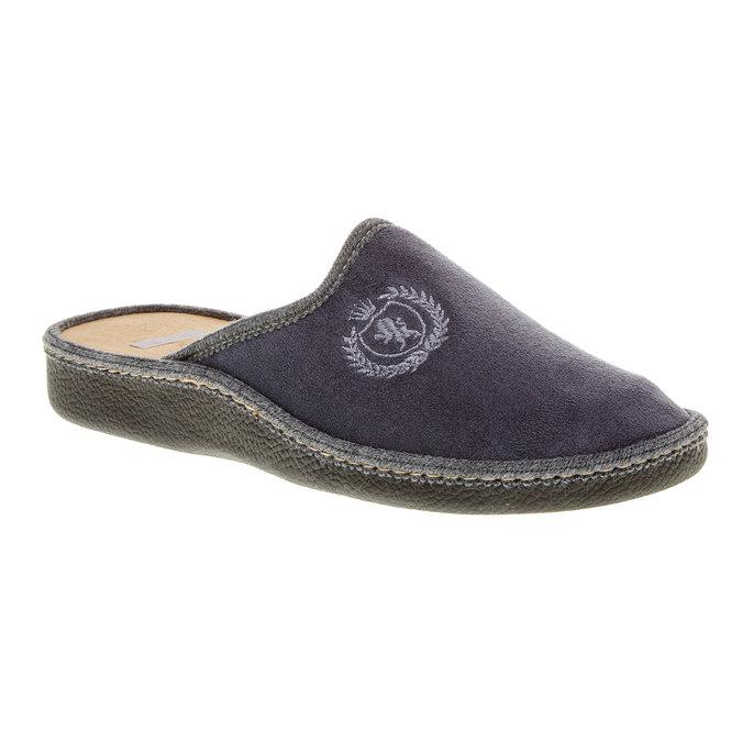 Pánska domáca obuv bata, šedá, 879-2165 - 13