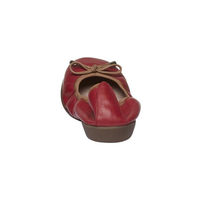 Červené kožené baleríny bata, červená, 524-5485 - 17
