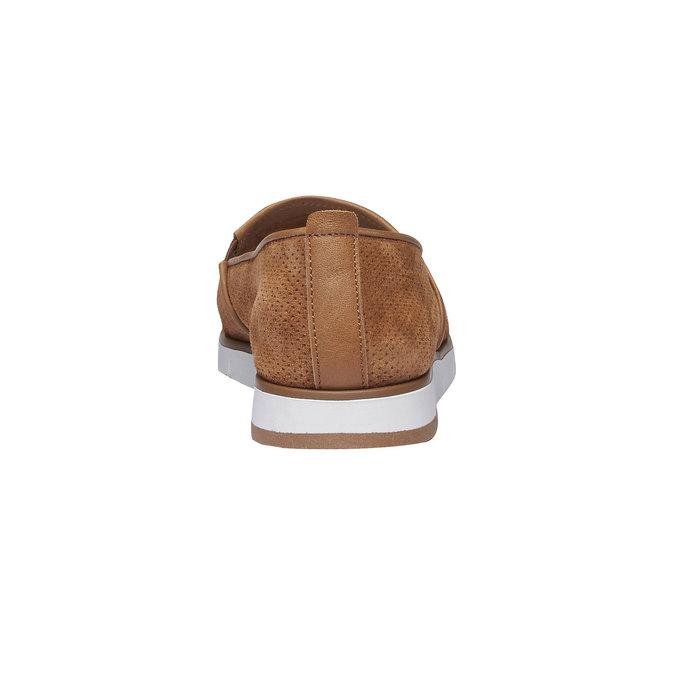 Kožené Slip-on topánky s perforáciou flexible, hnedá, 513-3200 - 17