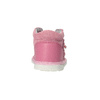 Dievčenská kožená domáca obuv, ružová, 104-5001 - 17