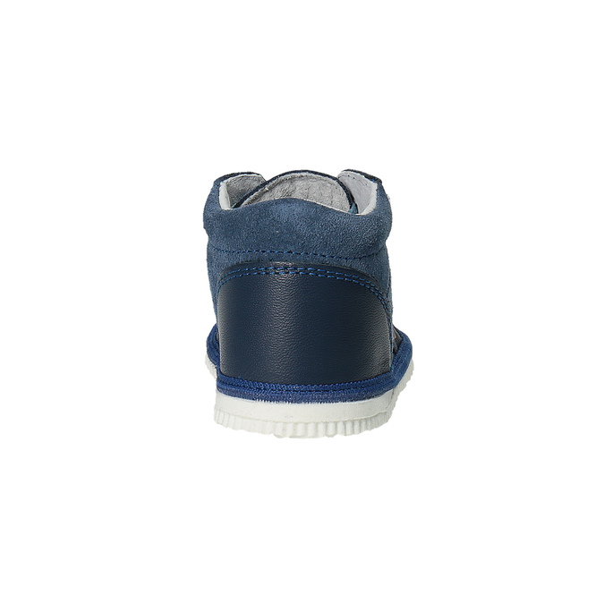 Detská kožená domáca obuv bata, modrá, 104-9001 - 17