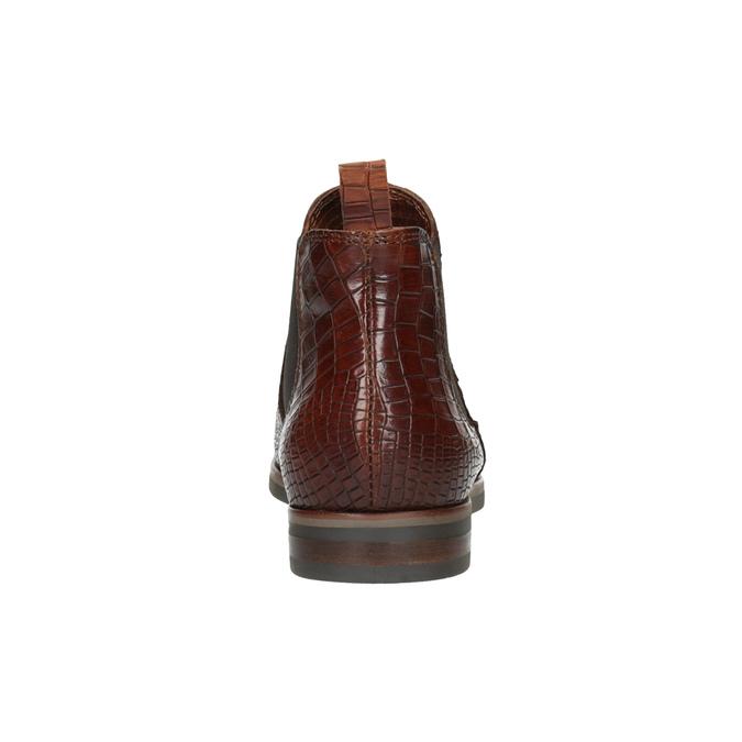 Kožené Chelsea boots bata, hnedá, 596-4606 - 17