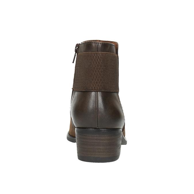 Dámska členková obuv bata, hnedá, 696-4605 - 17