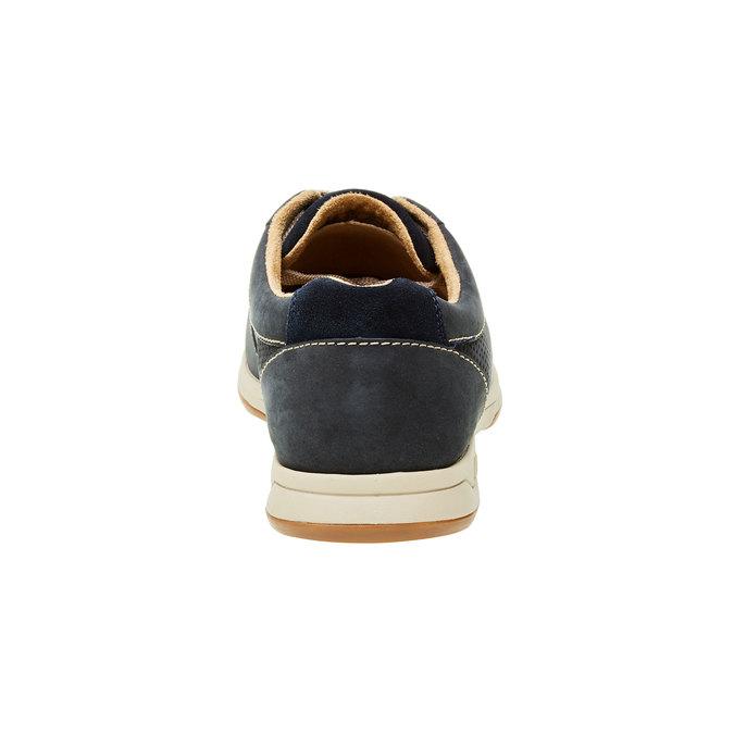 Pánska obuv z brúsenej kože clarks, modrá, 826-9006 - 17