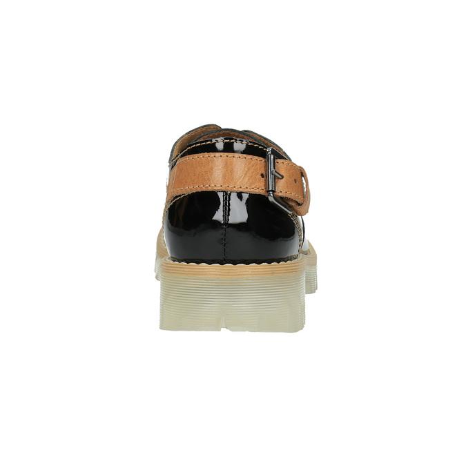 Kožené dámske poltopánky na priehladnej podrážke weinbrenner, čierna, 598-6603 - 17