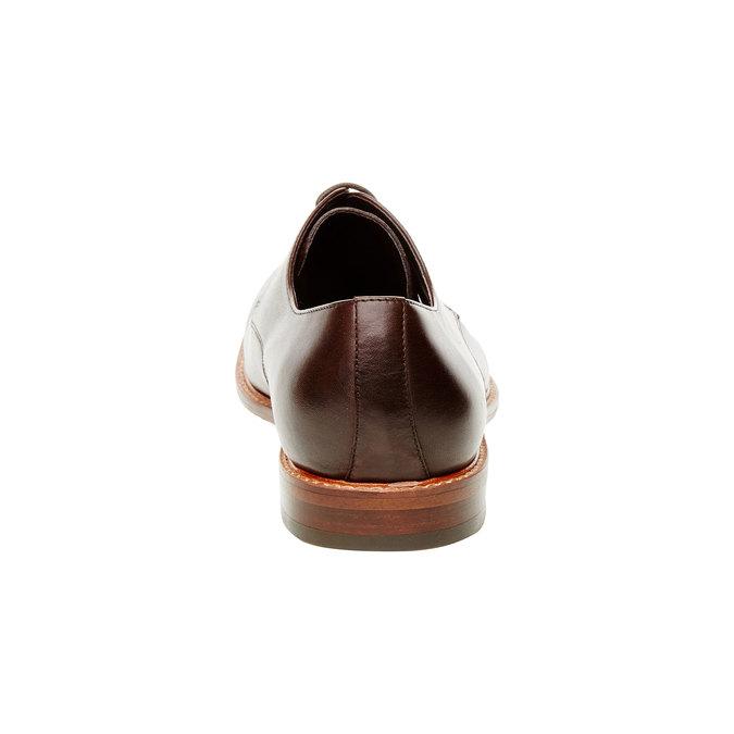 Kožené poltopánky v Derby strihu bata, hnedá, 824-4551 - 17