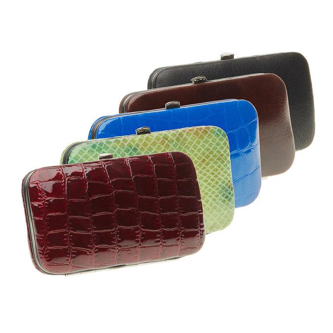 Manikúra v koženom púzdre bata, viacfarebné, 944-0322 - 13
