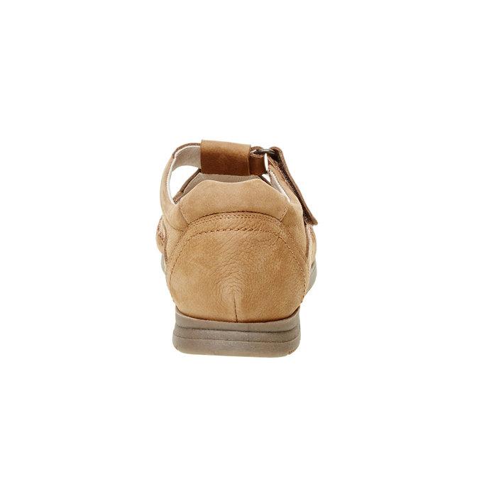 Pánske kožené sandále comfit, hnedá, 866-3184 - 17