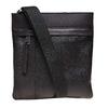 Kožená cross body bata, čierna, 964-6131 - 26