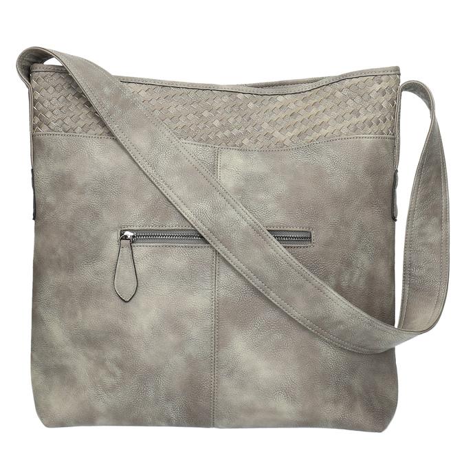 Šedá kabelka s dlhým uchom bata, šedá, 961-2600 - 26