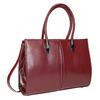 Červená kabelka s pevným dnom bata, červená, 961-5879 - 13