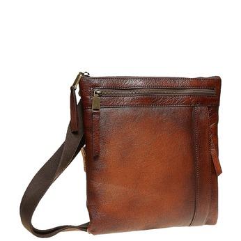 Pánska kožená Crossbody taška bata, hnedá, 964-4138 - 13