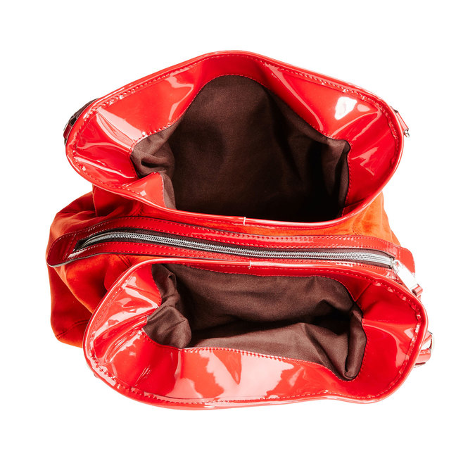 Červená dámska kabelka bata, červená, 969-5280 - 15