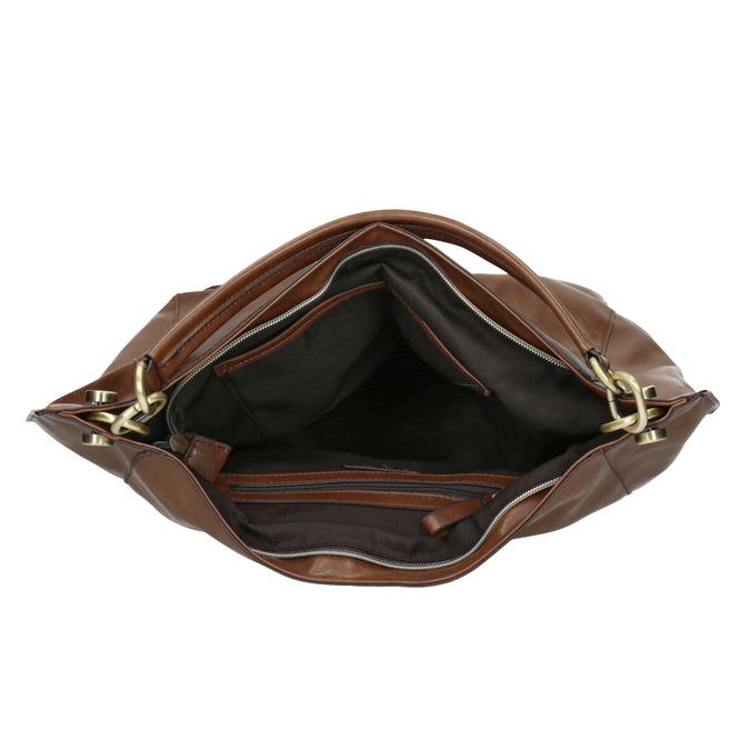 Hnedá kabelka v Hobo štýle bata, hnedá, 961-3808 - 15