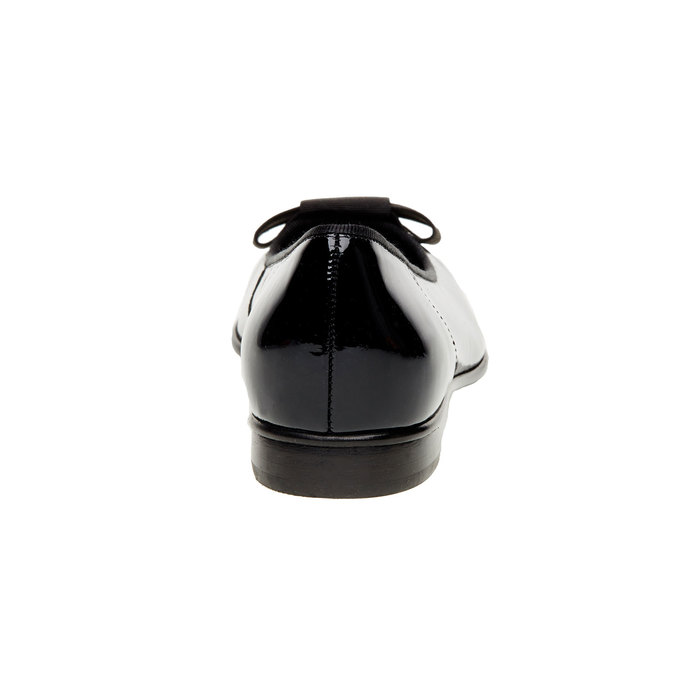 Kožené baleríny s mašlou gabor, čierna, 528-6271 - 17