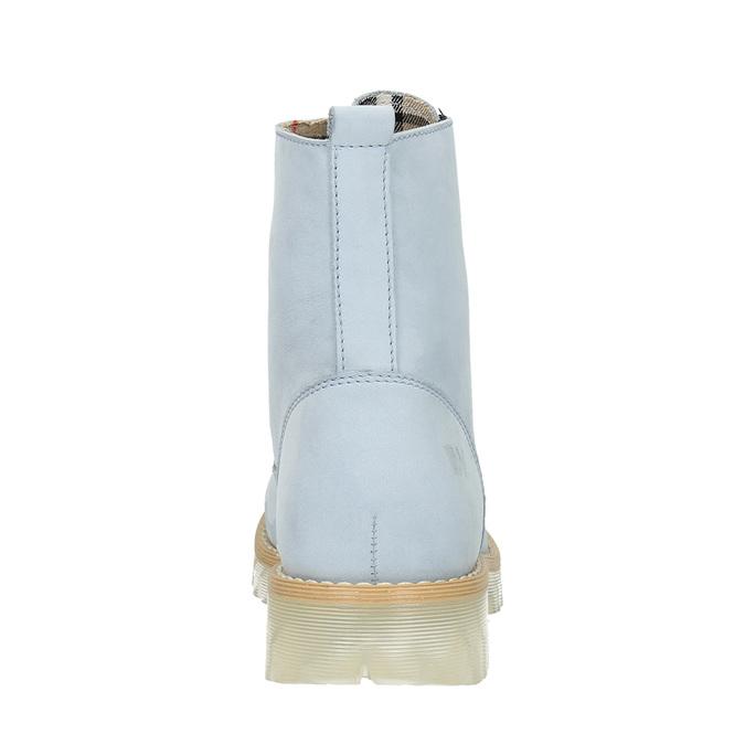 Kožená členková obuv s priehladnou podrážkou weinbrenner, modrá, 596-9639 - 17