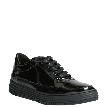 Dámske lakované tenisky bata, čierna, 528-6632 - 13