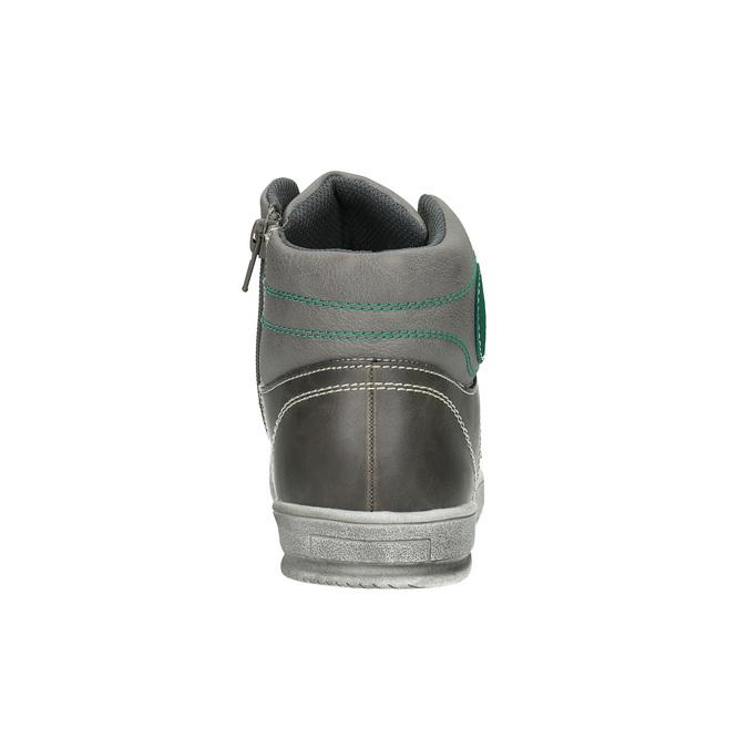 Detské členkové tenisky šedé mini-b, šedá, 411-2600 - 17