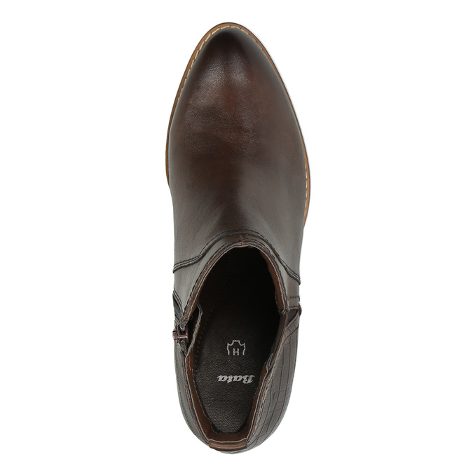 Dámska členková obuv šírky H bata, hnedá, 696-4616 - 19