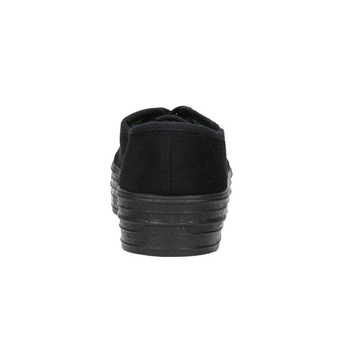 Čierne tenisky so širokou podrážkou bata, čierna, 529-6630 - 17