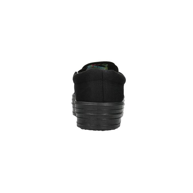Čierne Slip-on na širokej podrážke bata, čierna, 529-6631 - 17
