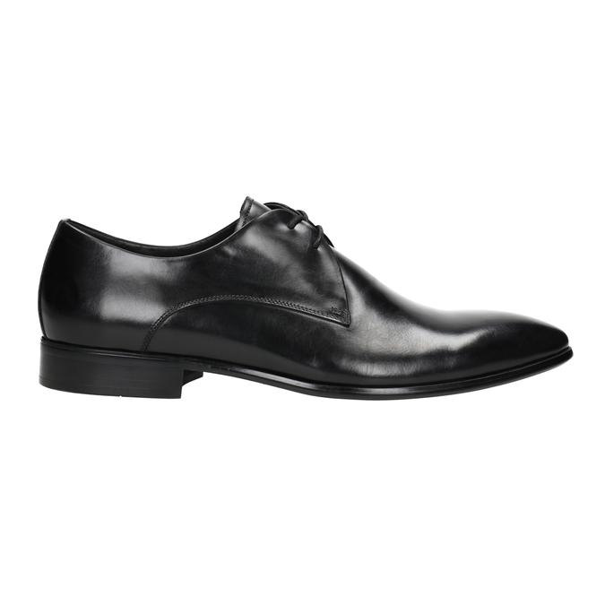 Čierne kožené poltopánky bata, čierna, 826-6648 - 26