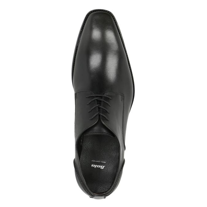 Pánske kožené poltopánky bata, čierna, 826-2646 - 19