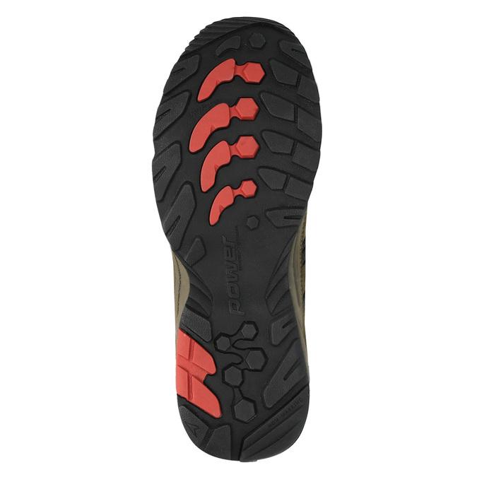 Kožená obuv v Outdoor štýle power, hnedá, 803-3109 - 26