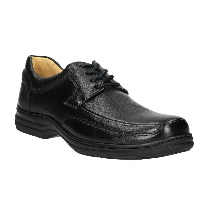 Ležérne kožené poltopánky comfit, čierna, 824-6719 - 13