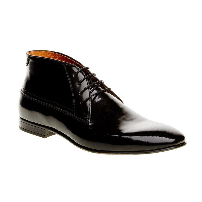 Členkové poltopánky z lakovanej kože bata, čierna, 898-6797 - 13
