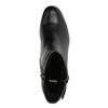 Kožené členkové čižmy na nízkom podpätku bata, čierna, 694-6630 - 19