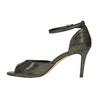 Sandále na ihličkovom podpätku so zlatými odleskami bata, čierna, 729-8630 - 26
