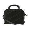 Malá kožená kabelka s popruhom bata, čierna, 963-6133 - 19