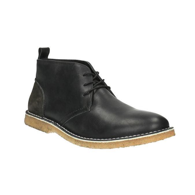 Kožené Chukka Boots bata, čierna, 824-6665 - 13