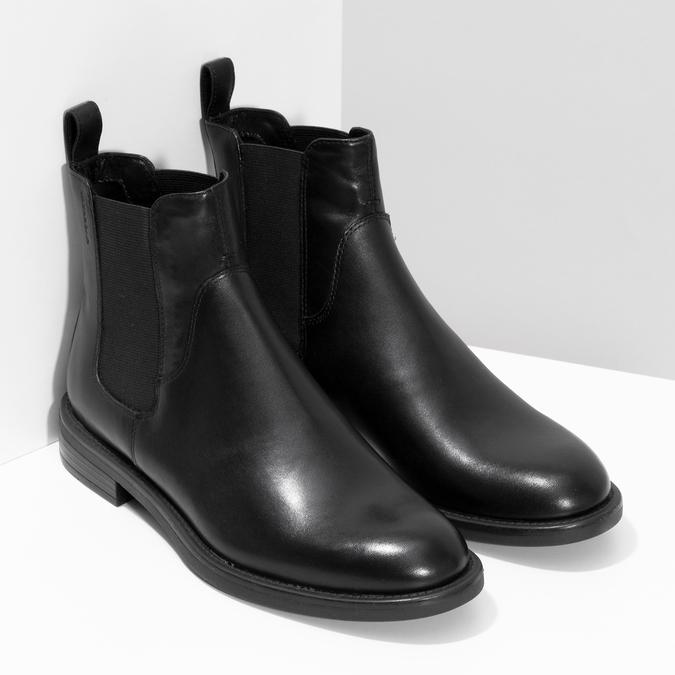 Dámske kožené čierne Chelsea vagabond, čierna, 514-6007 - 26